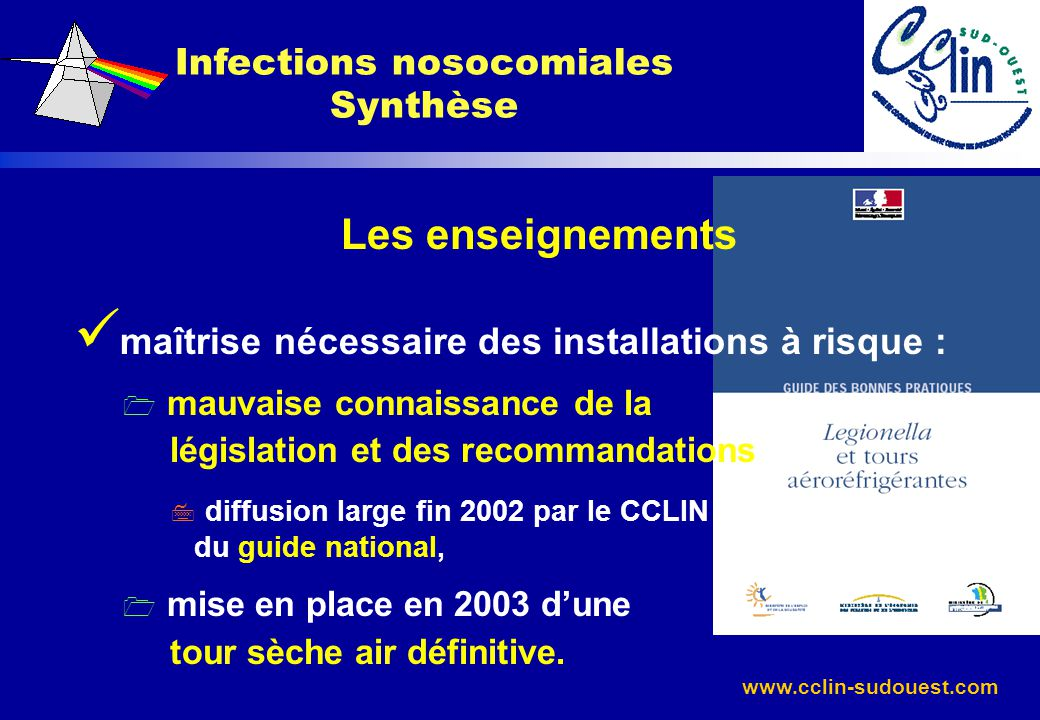 Infections nosocomiales Synthèse