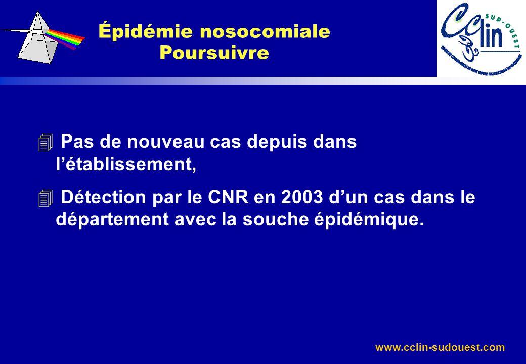 Épidémie nosocomiale Poursuivre