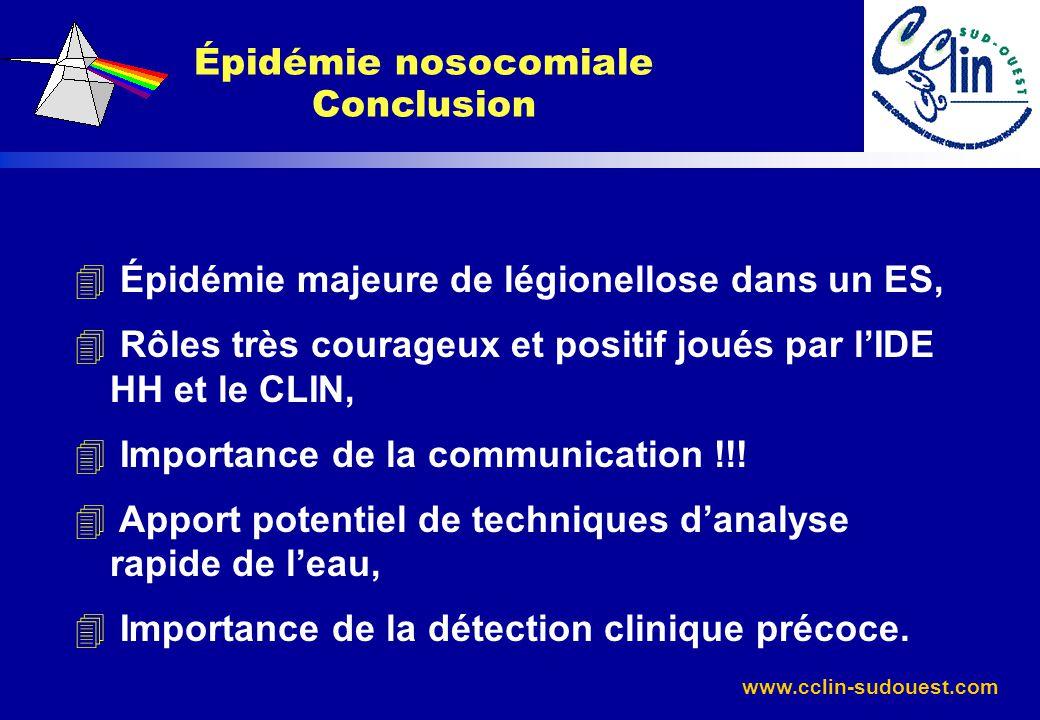 Épidémie nosocomiale Conclusion