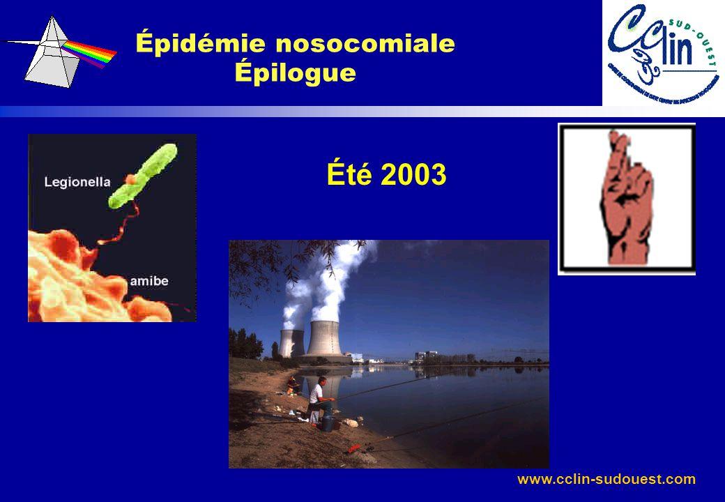 Épidémie nosocomiale Épilogue