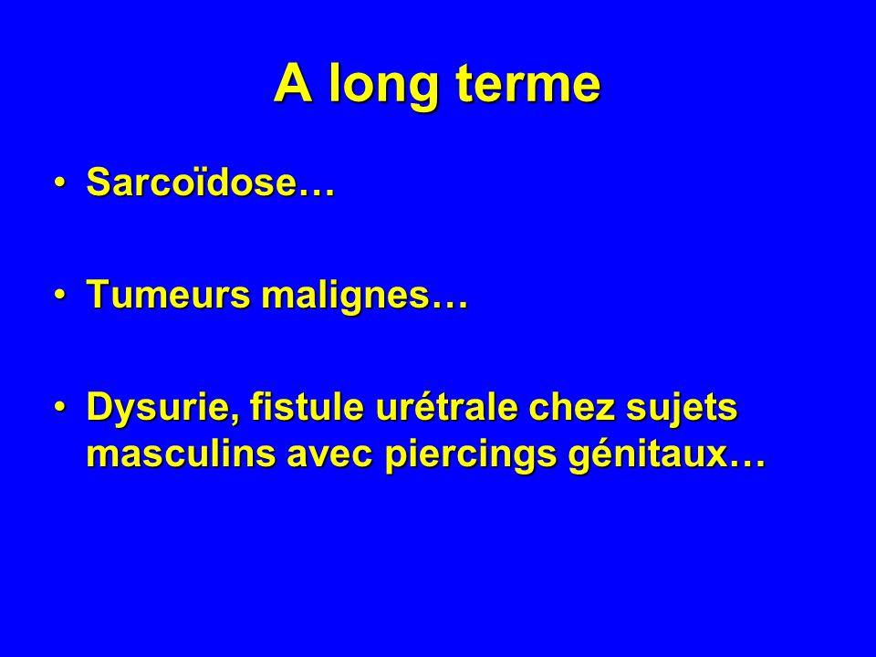 A long terme Sarcoïdose… Tumeurs malignes…