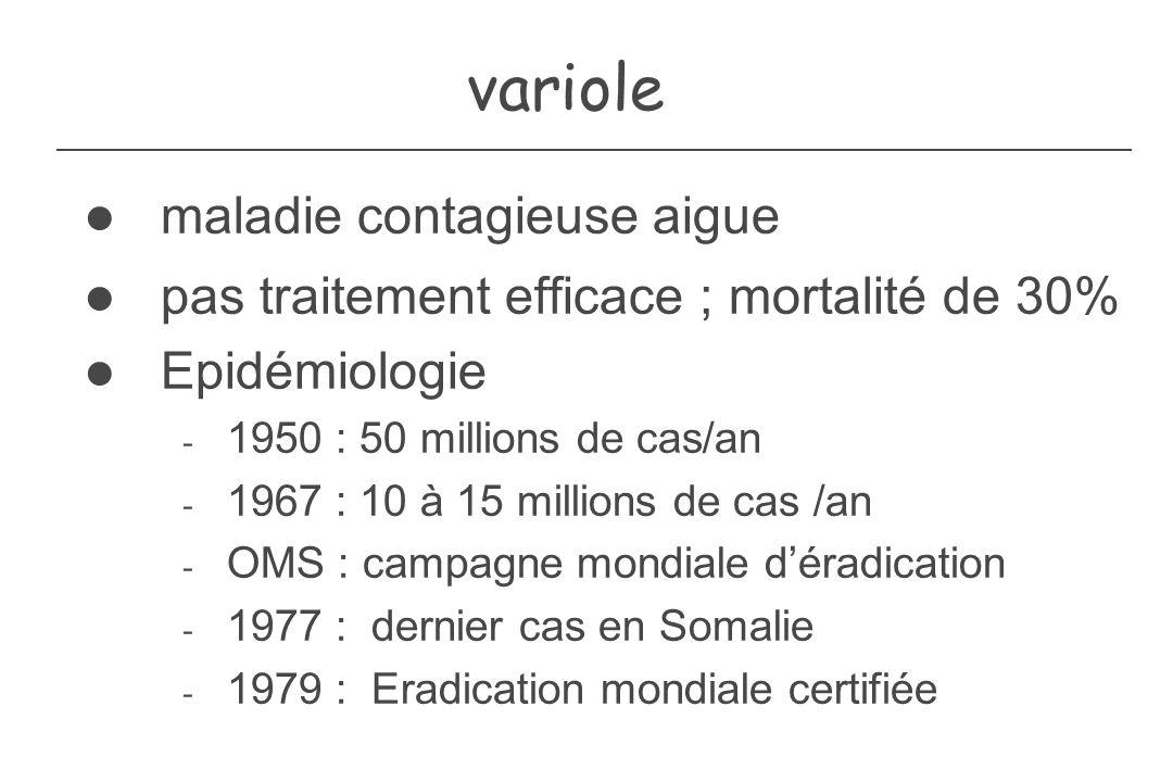 variole maladie contagieuse aigue