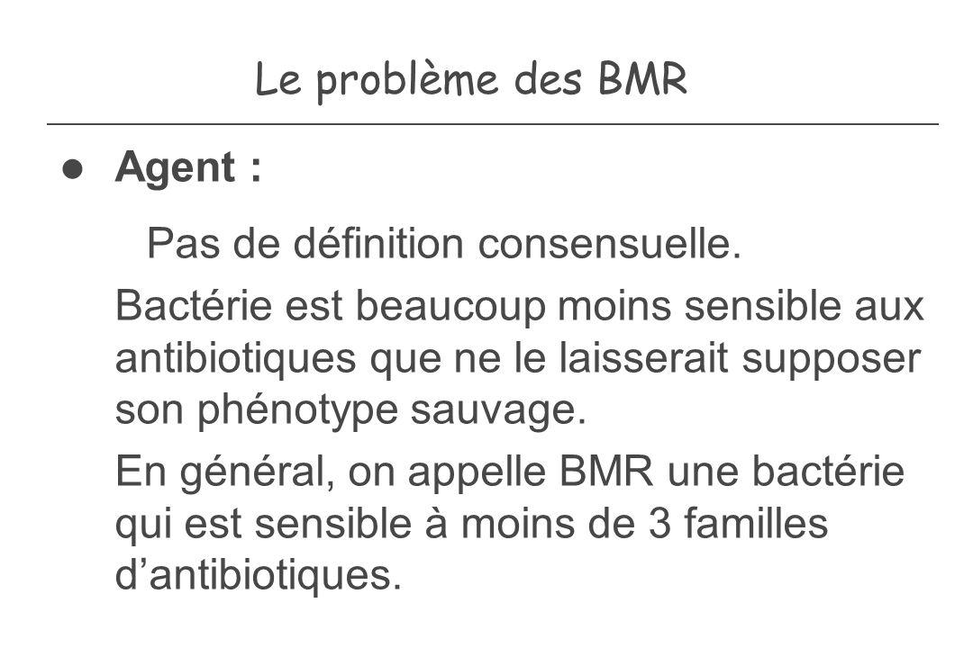Le problème des BMR Agent :