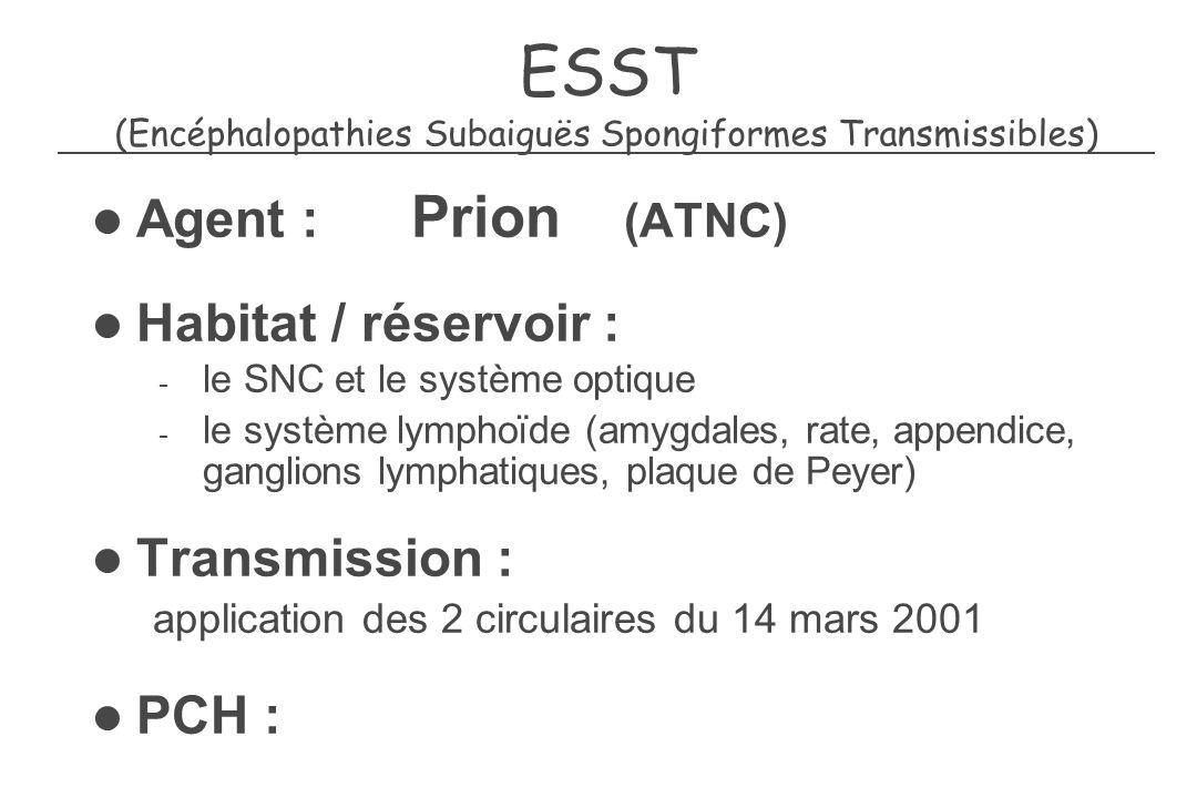 ESST (Encéphalopathies Subaiguës Spongiformes Transmissibles)