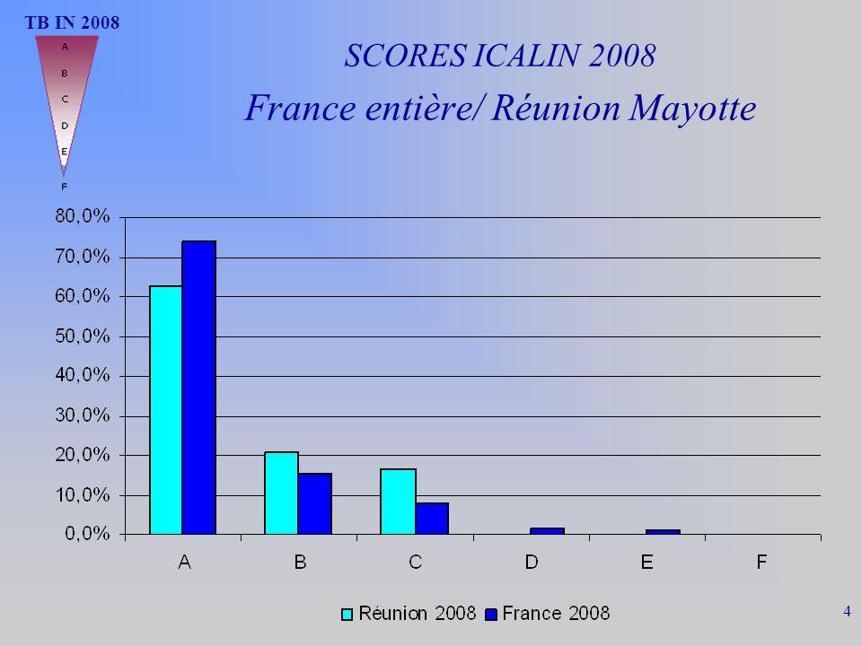 SCORES ICALIN 2008 France entière/ Réunion Mayotte