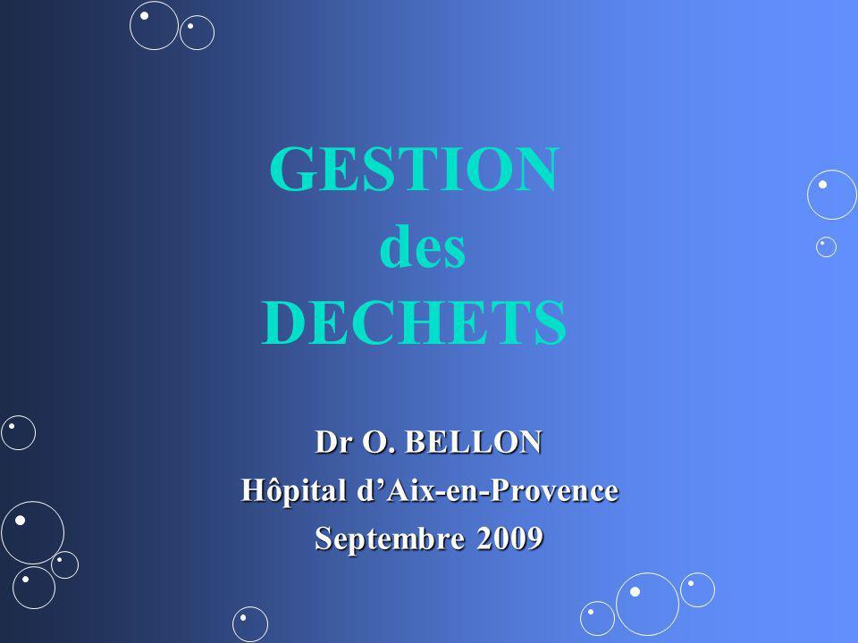 Dr O. BELLON Hôpital d'Aix-en-Provence Septembre 2009