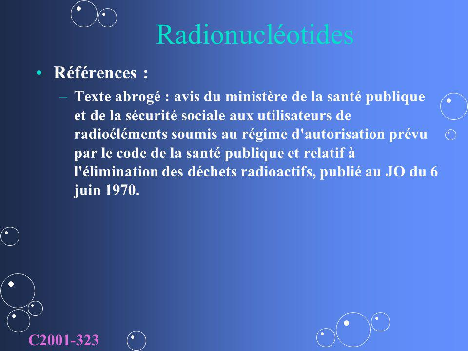 Radionucléotides Références :
