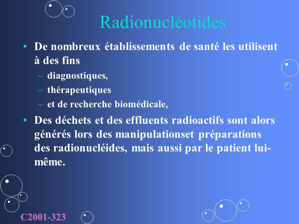 Radionucléotides De nombreux établissements de santé les utilisent à des fins. diagnostiques, thérapeutiques.