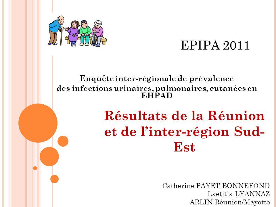 Résultats de la Réunion et de l'inter-région Sud-Est