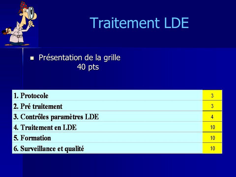 Traitement LDE Présentation de la grille 40 pts