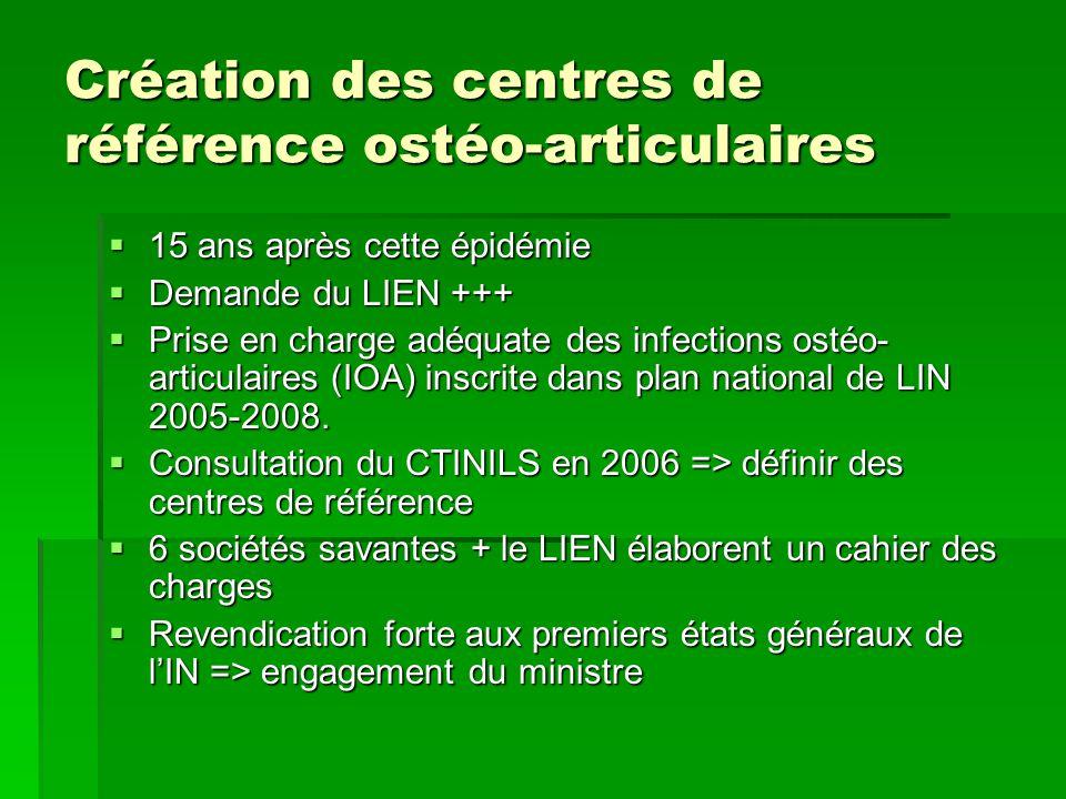 Création des centres de référence ostéo-articulaires