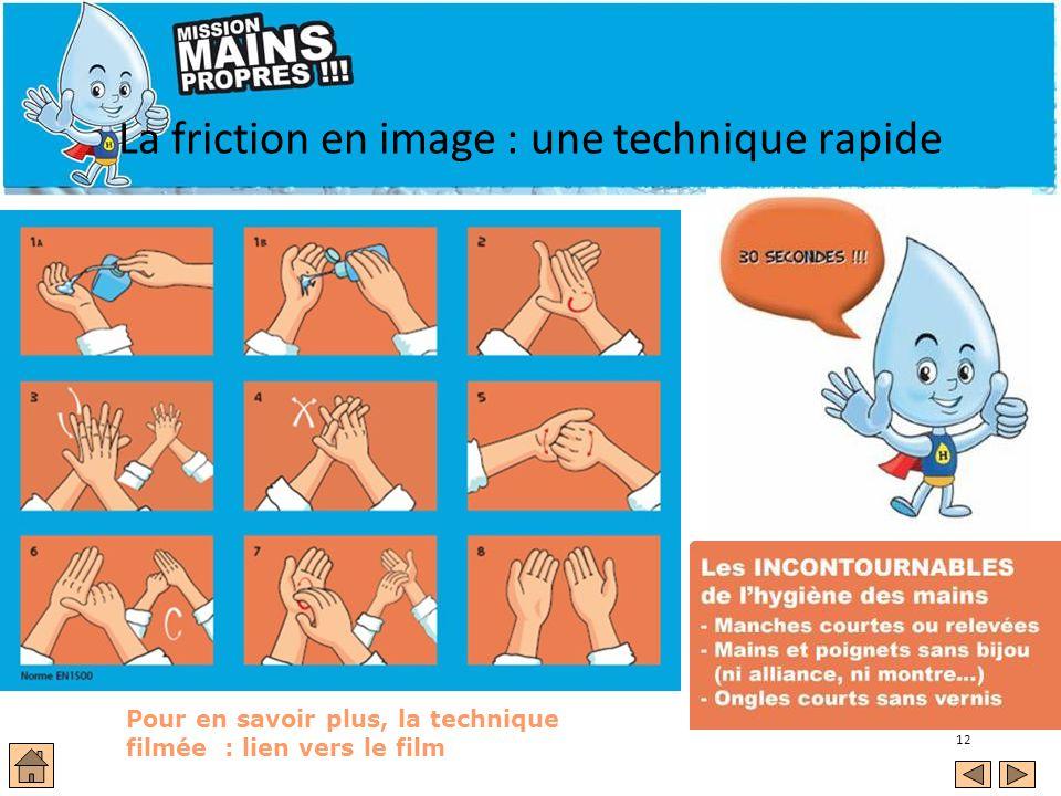 La friction en image : une technique rapide
