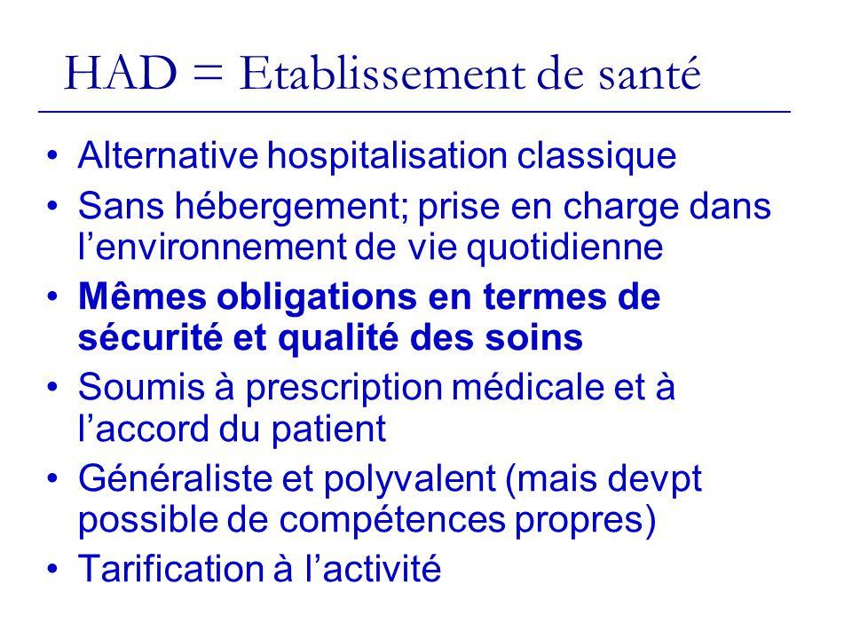 HAD = Etablissement de santé