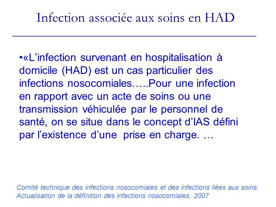 Infection associée aux soins en HAD