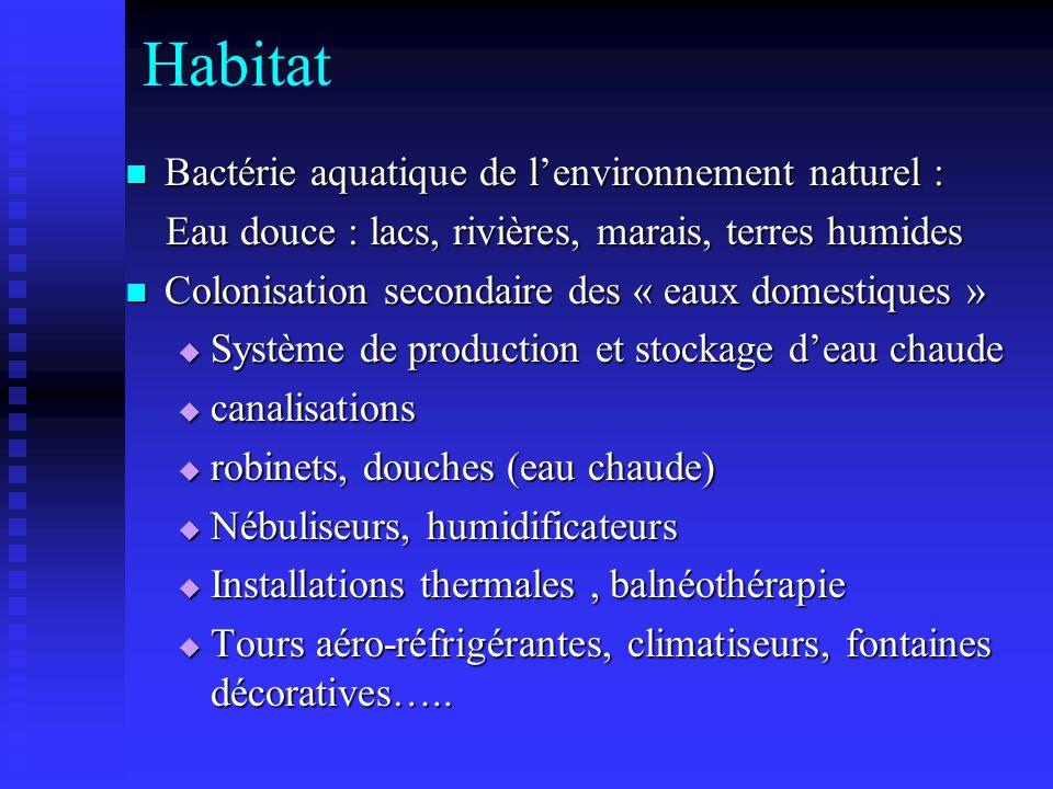 Habitat Bactérie aquatique de l'environnement naturel :