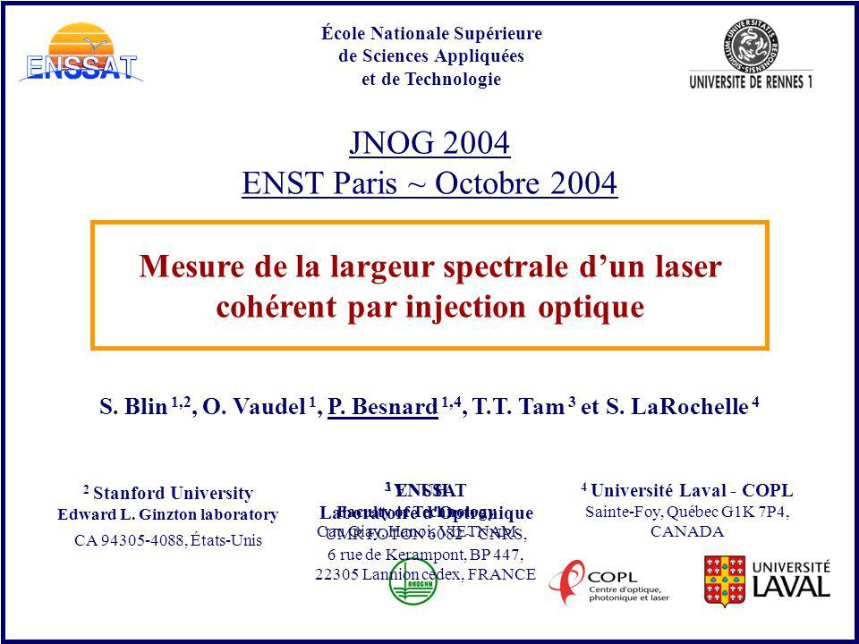 JNOG 2004 ENST Paris ~ Octobre 2004