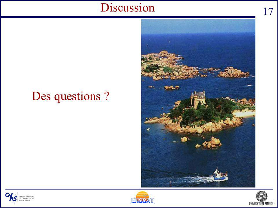 Questions Discussion Des questions