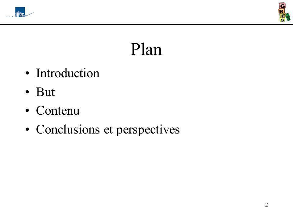 hfyh Plan Introduction But Contenu Conclusions et perspectives