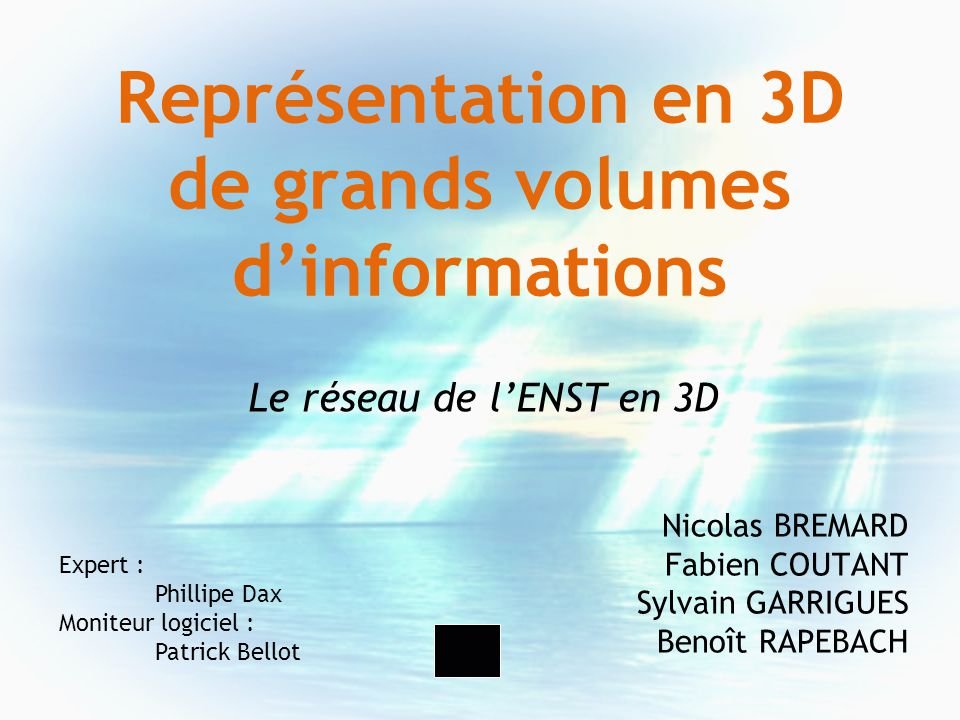 Représentation en 3D de grands volumes d'informations