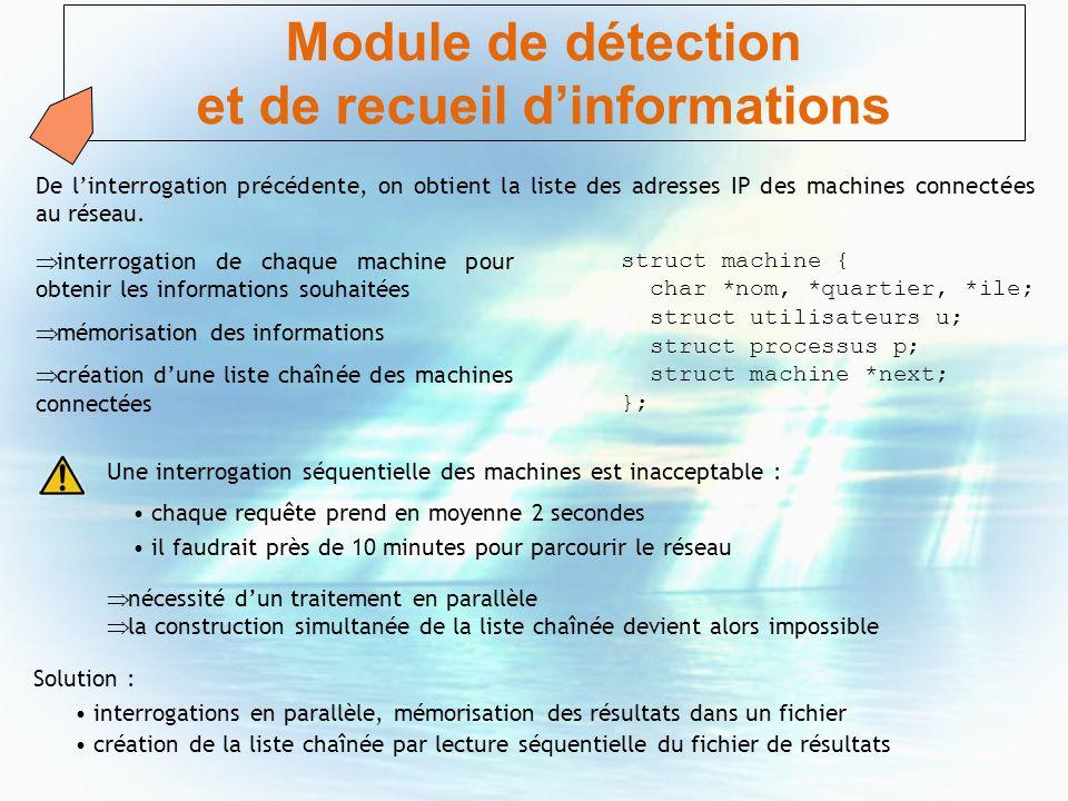 Module de détection et de recueil d'informations