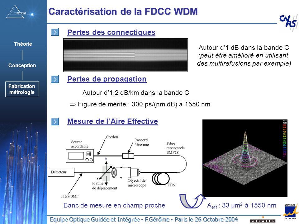 Caractérisation de la FDCC WDM