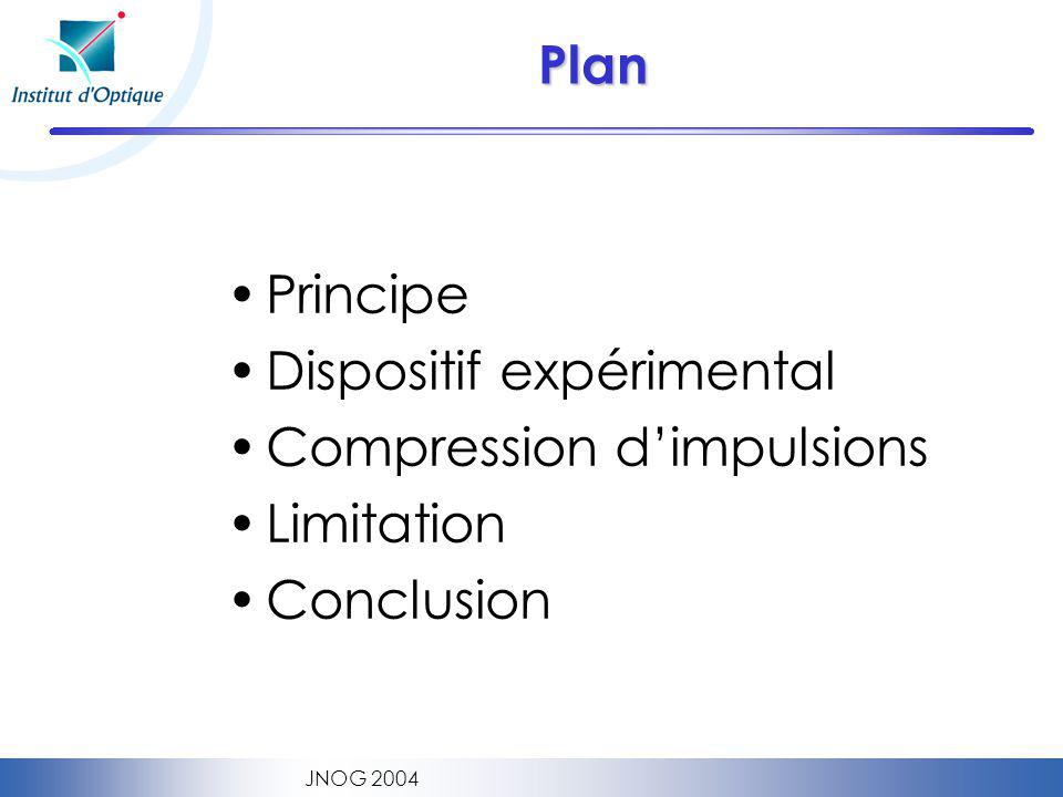 Dispositif expérimental Compression d'impulsions Limitation Conclusion