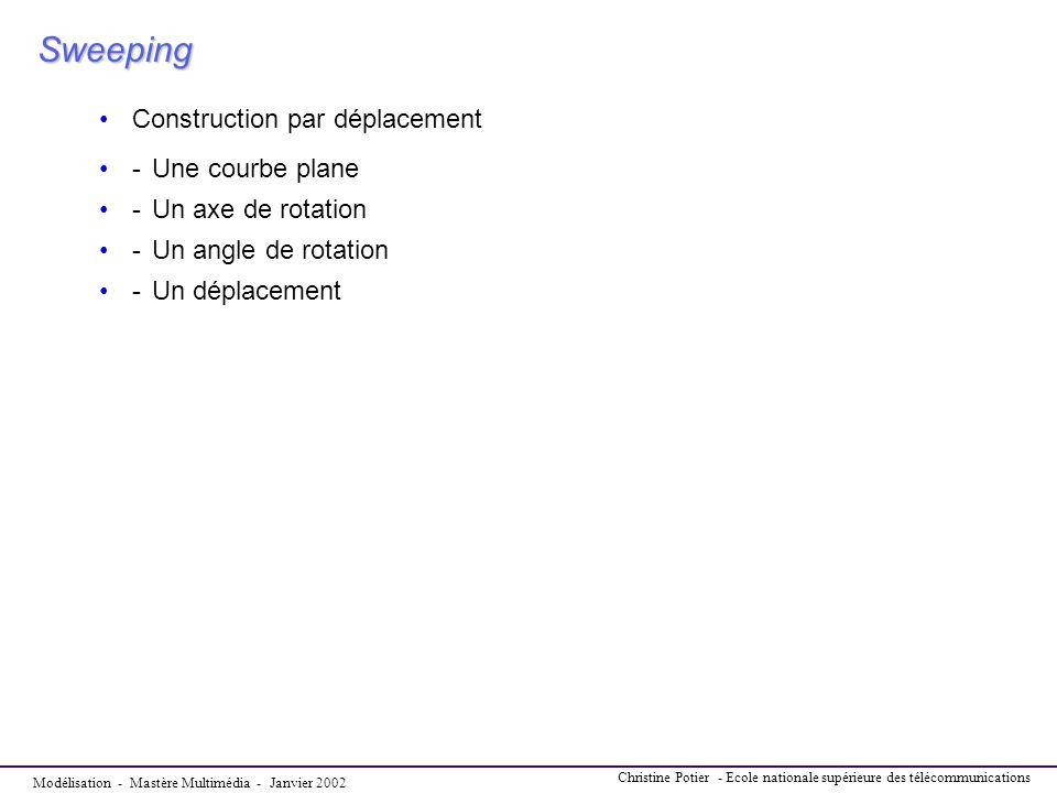 Sweeping Construction par déplacement - Une courbe plane