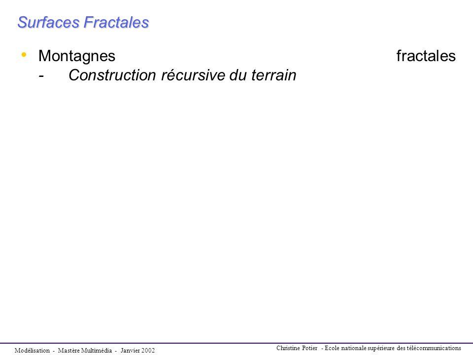 Montagnes fractales - Construction récursive du terrain