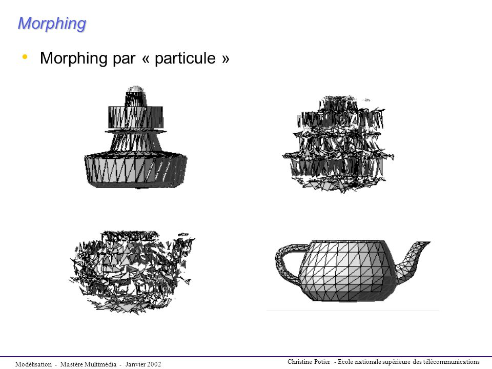 Morphing par « particule »