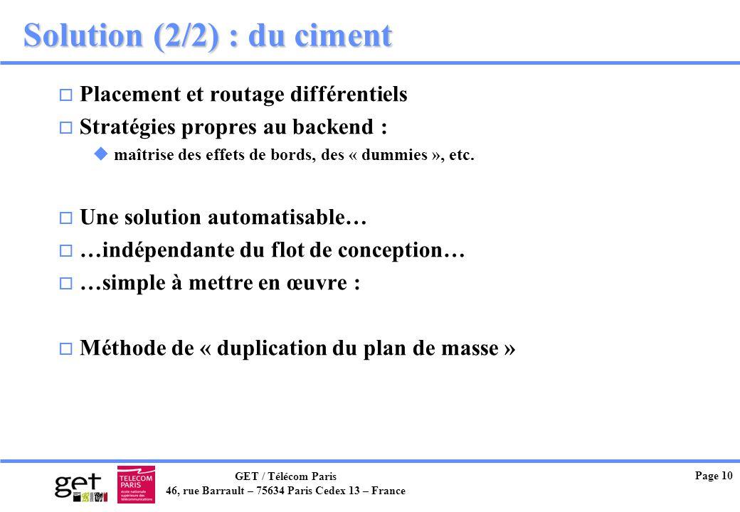 Solution (2/2) : du ciment