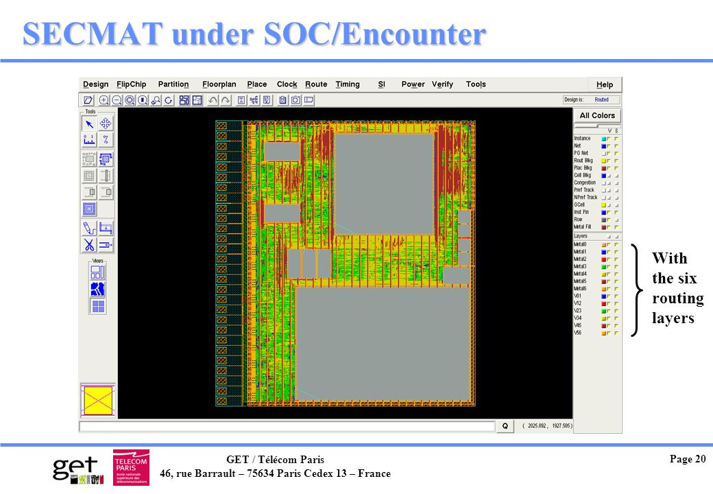 SECMAT under SOC/Encounter