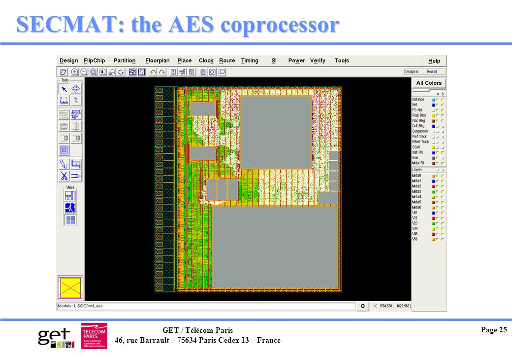 SECMAT: the AES coprocessor