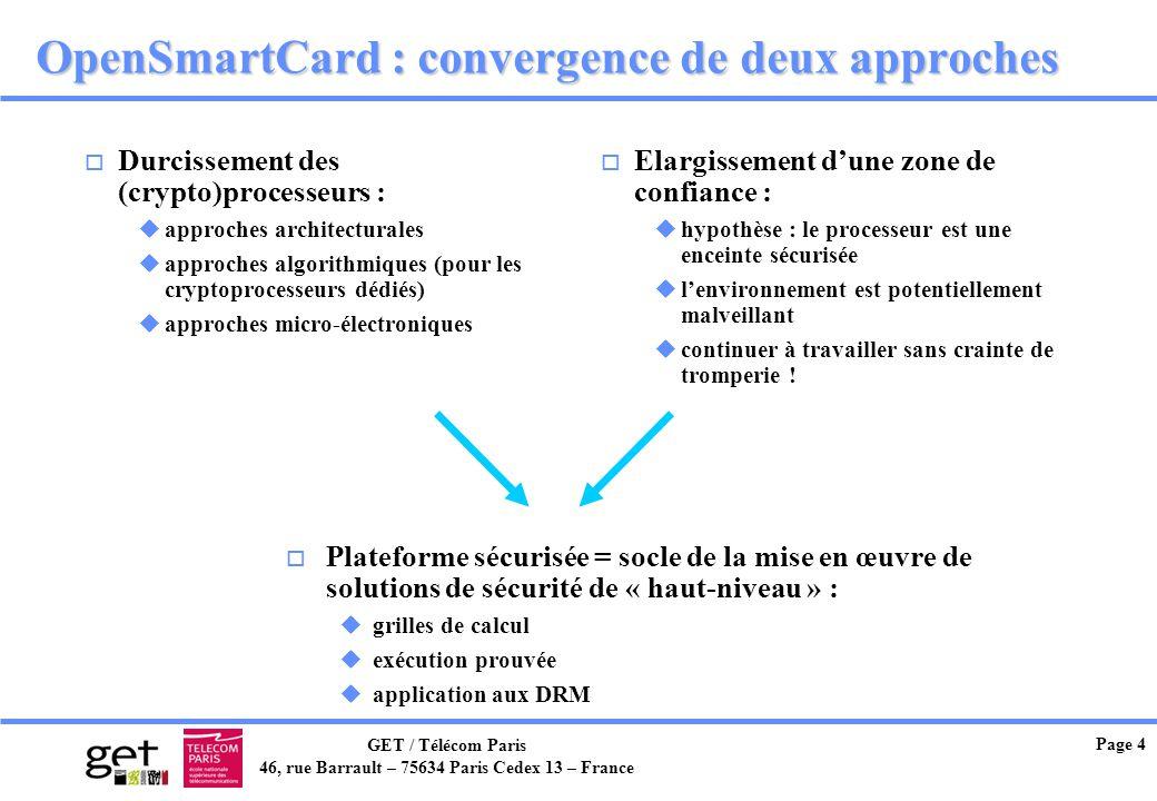 OpenSmartCard : convergence de deux approches