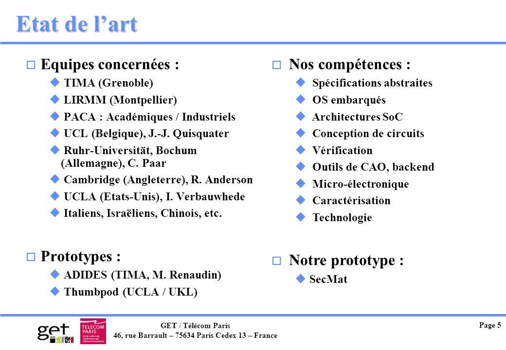 Etat de l'art Equipes concernées : Prototypes : Nos compétences :
