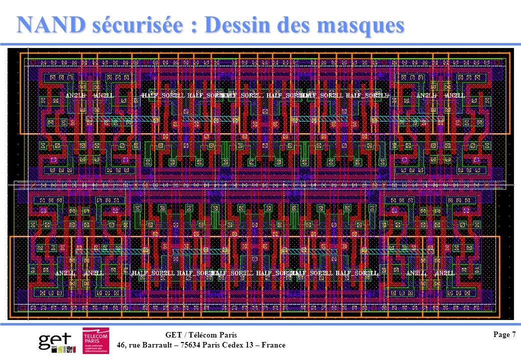 NAND sécurisée : Dessin des masques