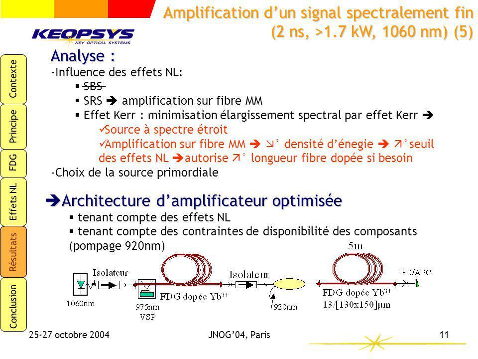 Architecture d'amplificateur optimisée