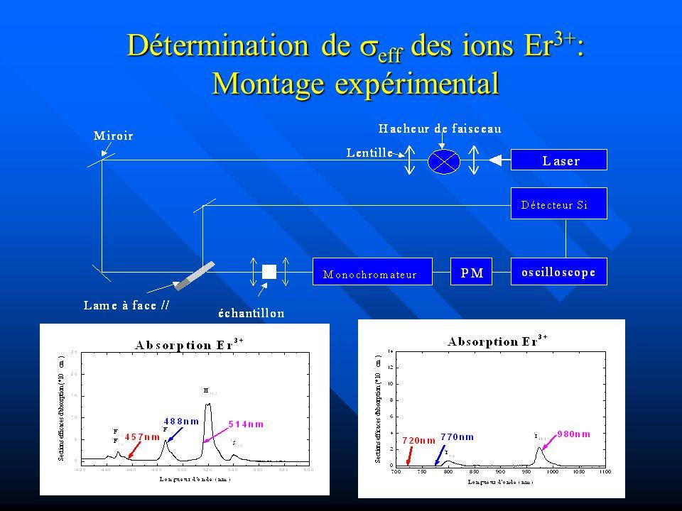 Détermination de seff des ions Er3+: Montage expérimental