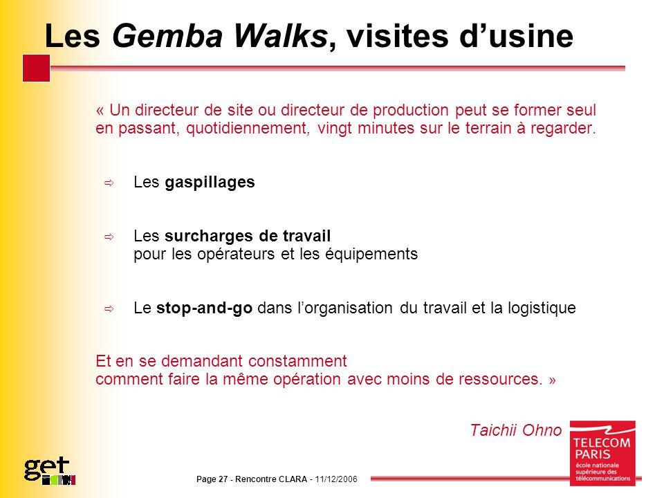 Les Gemba Walks, visites d'usine