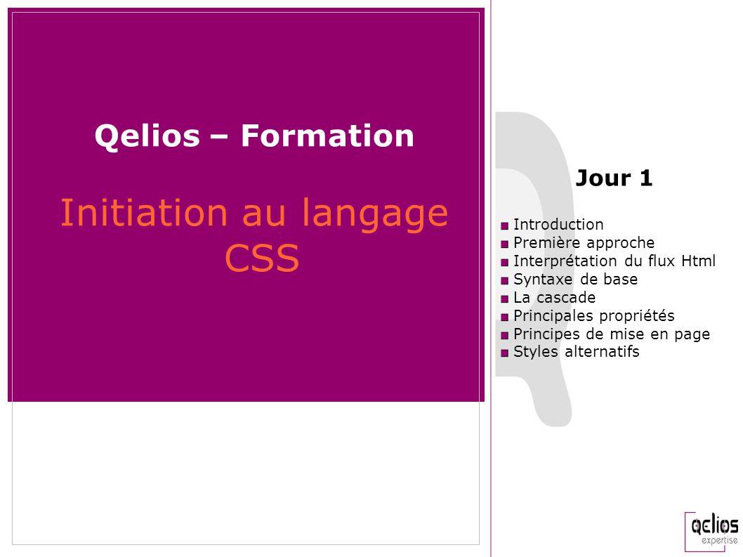 Qelios – Formation Initiation au langage CSS