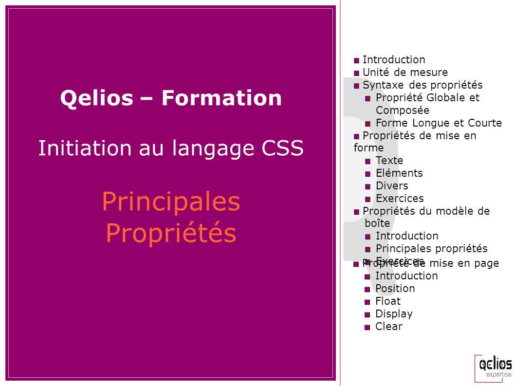 Initiation au langage CSS