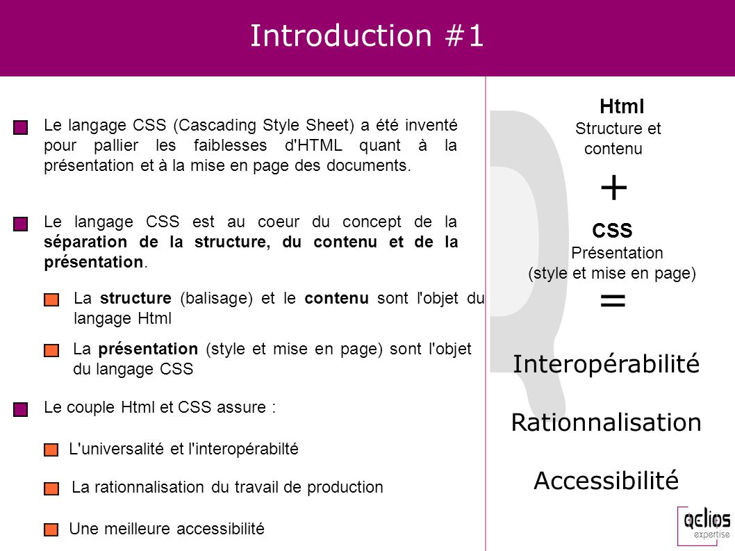 + = Introduction #1 Interopérabilité Rationnalisation Accessibilité