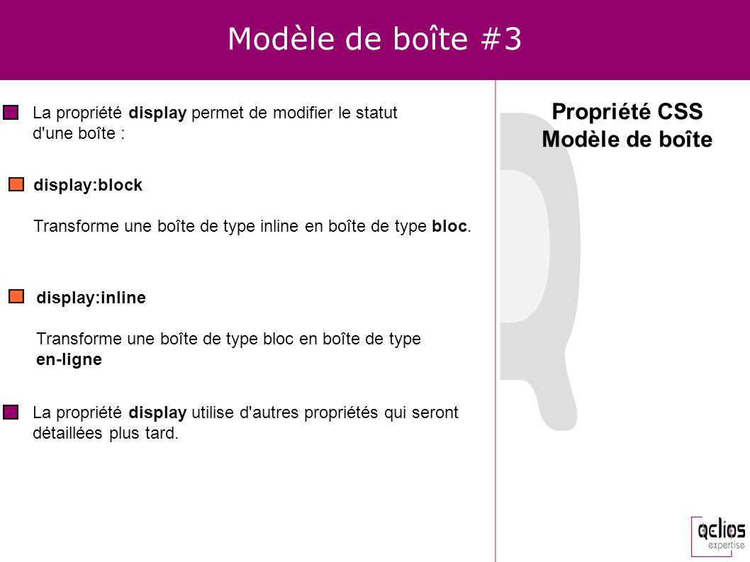 Modèle de boîte #3 Propriété CSS Modèle de boîte