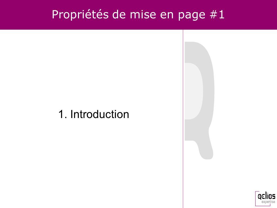 Propriétés de mise en page #1