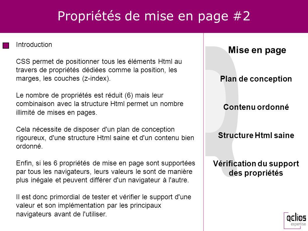Propriétés de mise en page #2