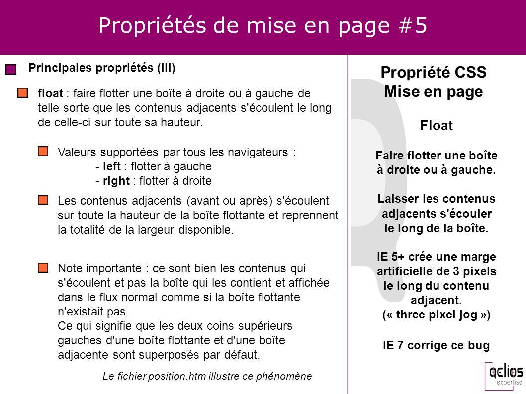 Propriétés de mise en page #5