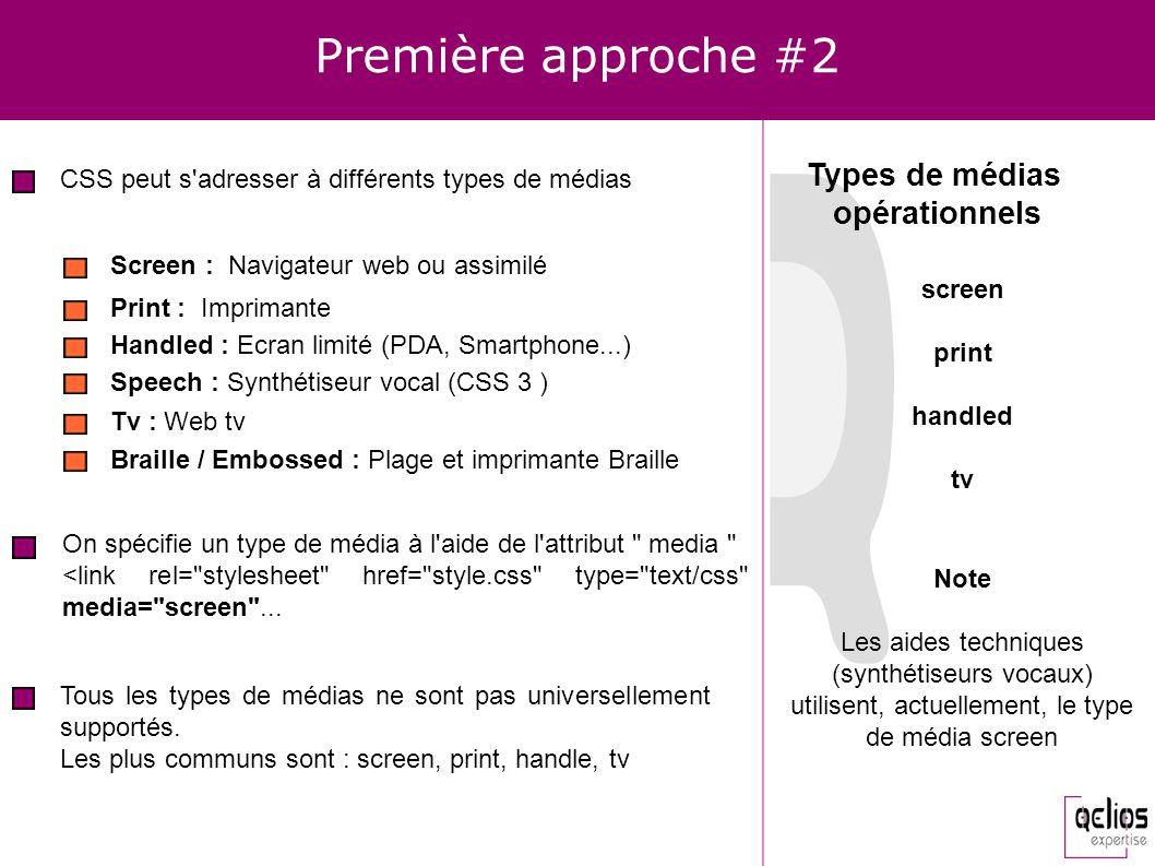 Première approche #2 Types de médias opérationnels