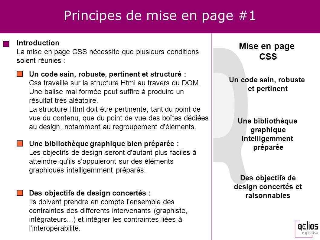 Principes de mise en page #1