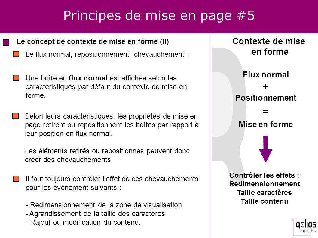Principes de mise en page #5