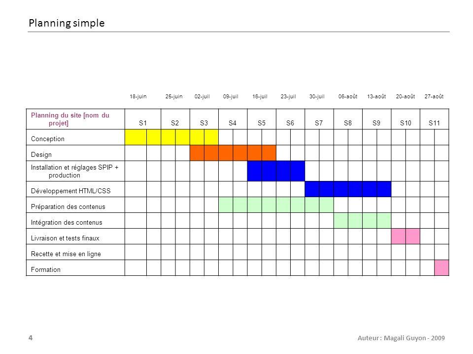 Planning simple 18-juin. 25-juin. 02-juil. 09-juil. 16-juil. 23-juil. 30-juil. 06-août. 13-août.