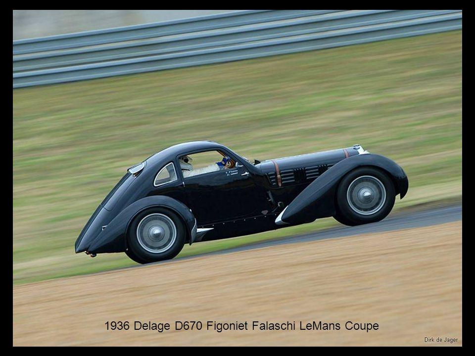 1936 Delage D670 Figoniet Falaschi LeMans Coupe